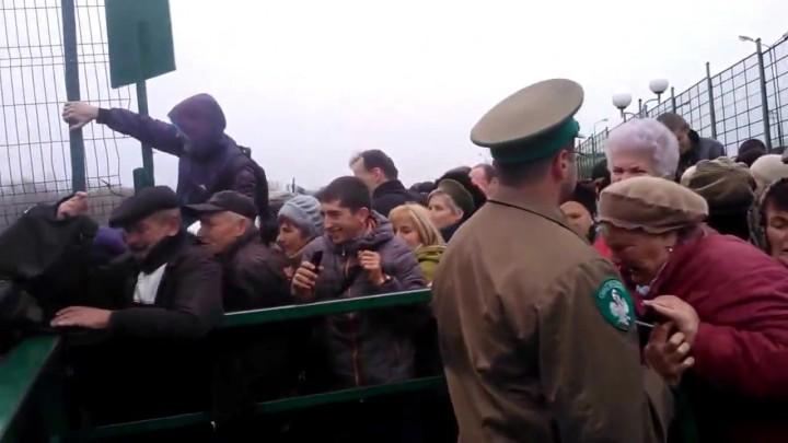 Украинцы на границе