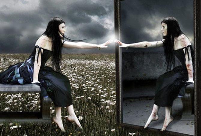 Спать напротив зеркала