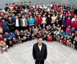 Самая большая семья в мире: 39 жён и 94 ребёнка