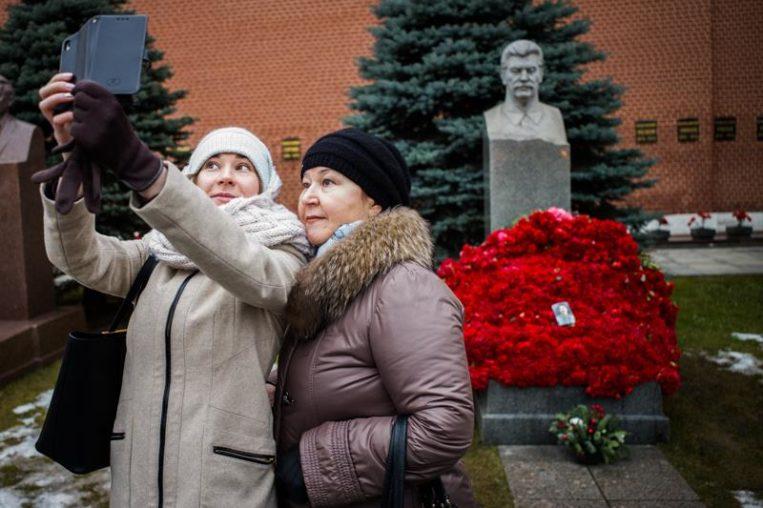 на могиле Сталина