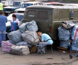 Челноки в России в 90-х. Фото