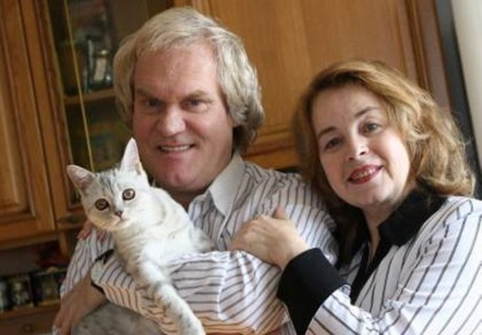 Юрий Куклачев с женой Еленой